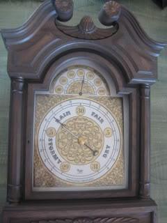 Old plastic barometer