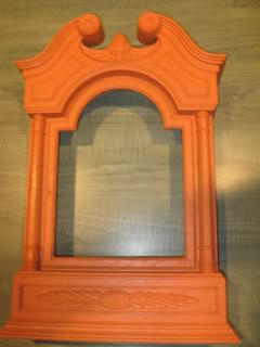 orange Halloween clock frame