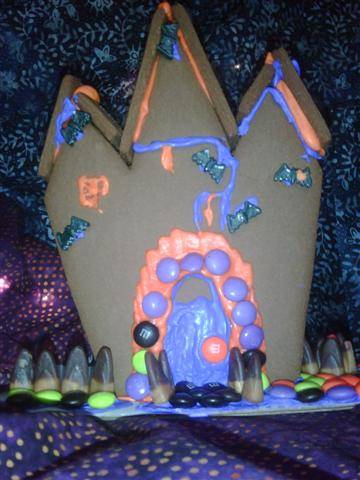 Commercial haunted gingerbread house