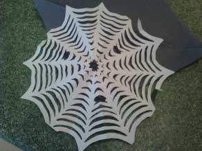 Finished paper spider web