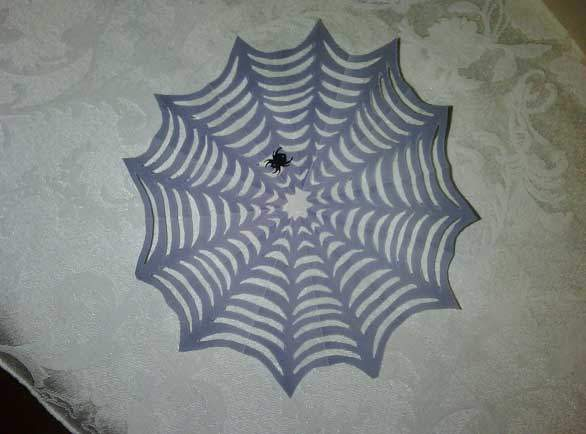 Muddy purple vellum gives this a more silky, spider web look!