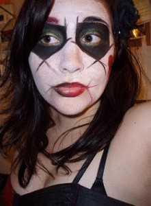 Harley Quinn Face Makeup