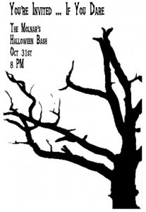silhouette Halloween party invitation