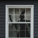 Window Witch Halloween Silhouette