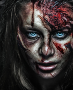 Creepy Halloween scar makeup
