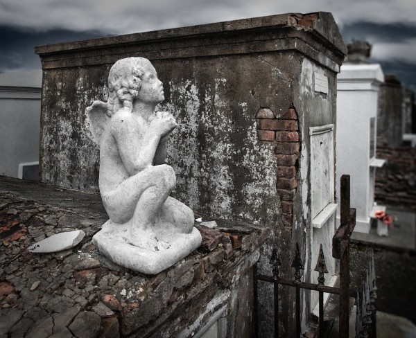 St. Louis Cemetery No. 1 is set in the historic French Quarter of New Orleans.
