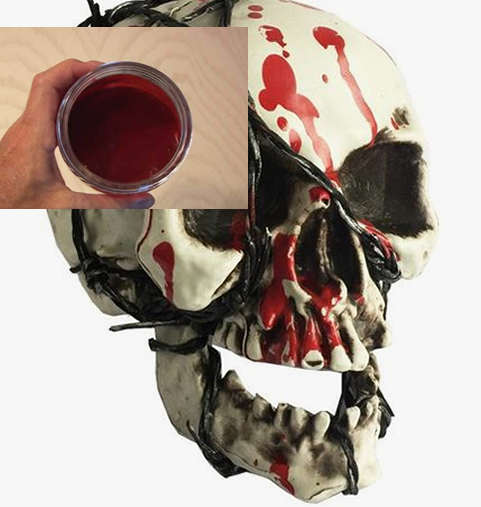 how to make fake blood without corn syrup and cornstarch