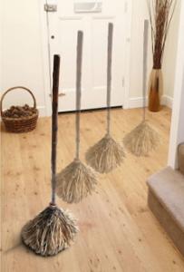 Moving broom Halloween prop