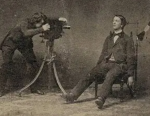 man being set up for death photograph