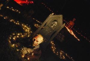 halloween tombstone ghoul