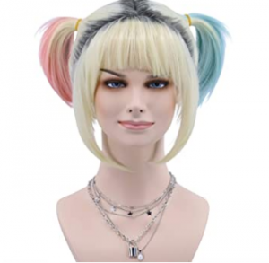 Harley Quinn wig with short pigtails