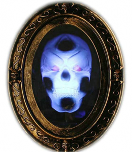 scary talking skull mirror