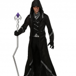 Handsome man wearing a warlock costume