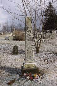 Louiza Fox is said to hover around her headstone and spook visitors. Image: hauntedhocking.com
