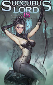 A female succubus dressed in black clothing