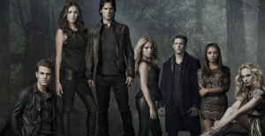 Cast of The Vampire Diaries in the woods