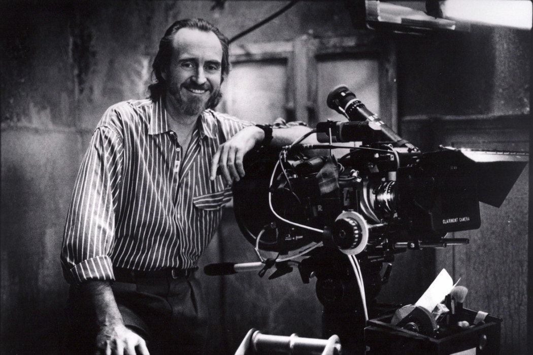 wes craven on set camera