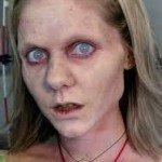 zombie makeup woman