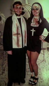 zombie priest and zombie nun Halloween costumes